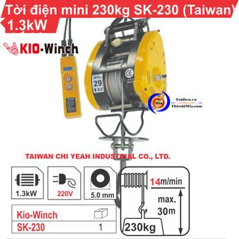 TỜI TREO MINI 230KG KIO WINCH SK-230