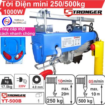TỜI ĐIỆN MINI 250-500KG STRONGER YT-500B