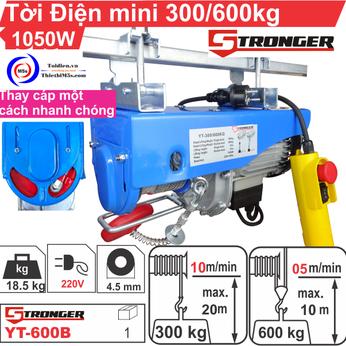 TỜI ĐIỆN MINI 300-600KG STRONGER YT-600B