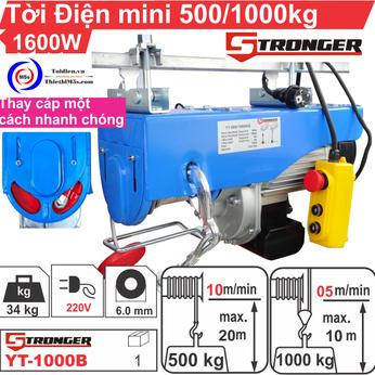 TỜI ĐIỆN MINI 500-1000KG STRONGER YT-1000AWB