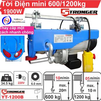 TỜI ĐIỆN MINI 600-1200KG STRONGER YT-1200B