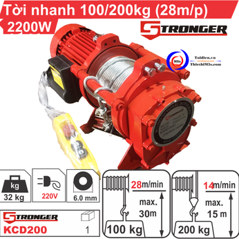 TỜI XÂY DỰNG STRONGER 28m/p - 100-200KG