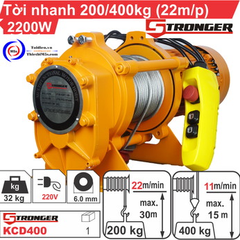 TỜI XÂY DỰNG STRONGER 22m/p 200-400KG
