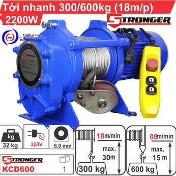 TỜI XÂY DỰNG STRONGER 18m/p 300-600KG