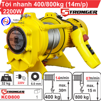 TỜI XÂY DỰNG STRONGER 14m/p 400-800KG
