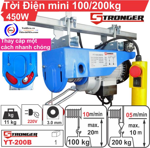 TỜI ĐIỆN MINI 100-200KG STRONGER YT-200B