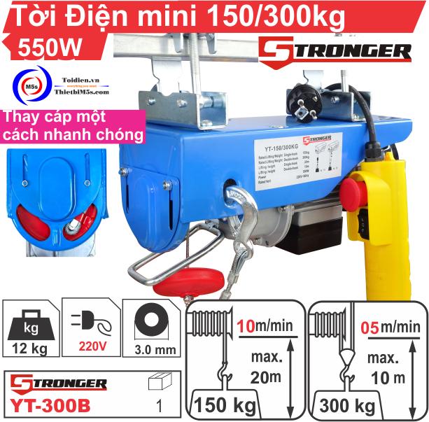 TỜI ĐIỆN MINI 150-300KG STRONGER YT-300B