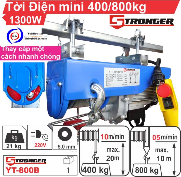 TỜI ĐIỆN MINI 400-800KG STRONGER YT-800B