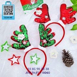 Cài Noel giáng sinh sừng tuần lộc lớn lấp lánh
