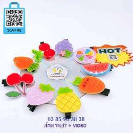 Kẹp tóc mái mỏ vịt hoa quả trái cây dễ thương