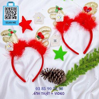 Cài Noel giáng sinh sừng tuần lộc siêu xinh xắn