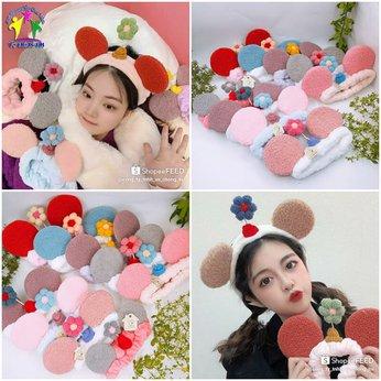 Băng Đô Rửa Mặt Bờm Tóc Trang Điểm Cài Tóc Makeup Tai Chuột Mickey