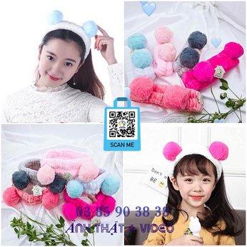 Băng đô rửa mặt trang điểm tai gấu trúc Panda dễ thương