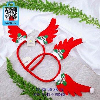 Cài Noel giáng sinh cánh bay Merry Christmas