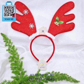Cài Noel giáng sinh sừng hươu tuần lộc siêu to khổng lồ