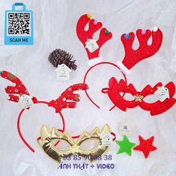 Cài Noel giáng sinh sừng tuần lộc kèm mặt nạ siêu đẹp