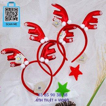 Cài Noel giáng sinh sừng tuần lộc rất dễ thương