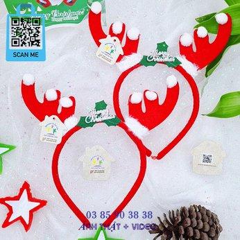 Cài Noel giáng sinh sừng tuần lộc tuyết dễ thương