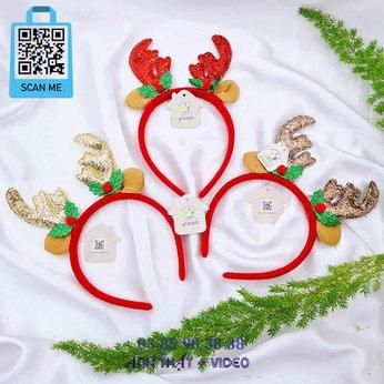 Cài Noel giáng sinh tai sừng hươu tuần lộc siêu đẹp