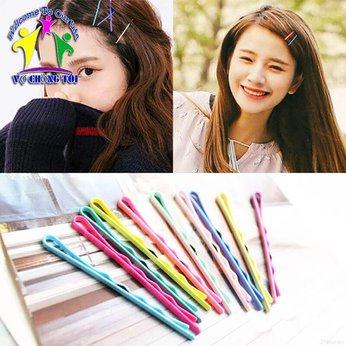Kẹp Tăm Nhiều Màu Kẹp Xước Mái Hàn Quốc Siêu Đẹp