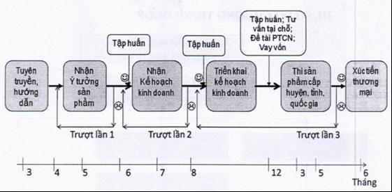 Chu trình OCOP được thực hiện theo 06 bước