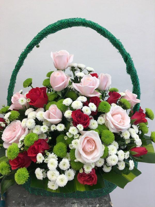 """Giỏ hoa tươi sinh nhật """"Tặng Em"""""""