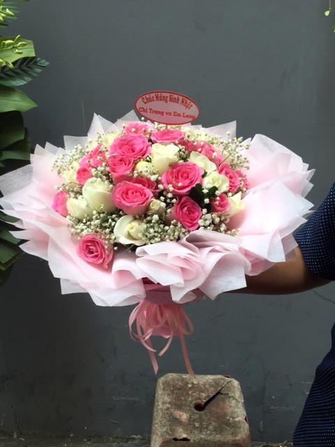 Bó hoa tươi May Mắn Ngọt Ngào đầy rạng rỡ