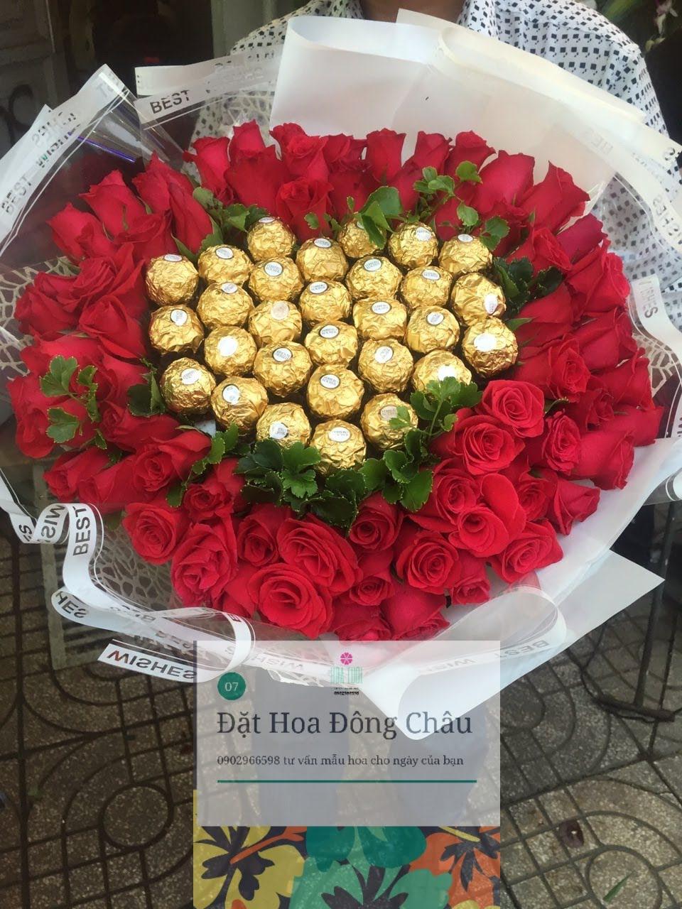 Bó hoa cầm tay Một Tình Yêu đẹp