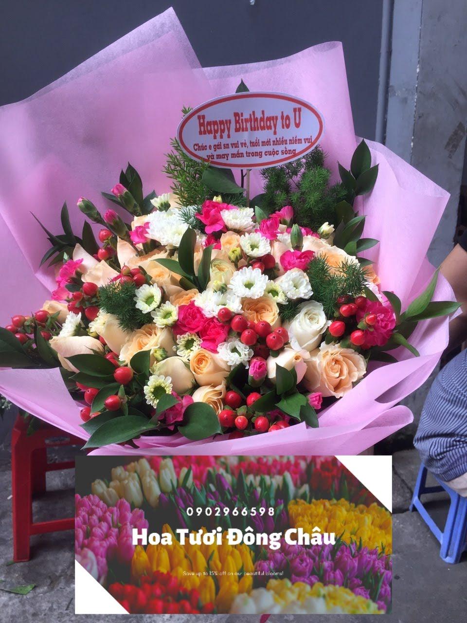 Bó hoa cầm tay Lời Tỏ Tình Dễ Thương