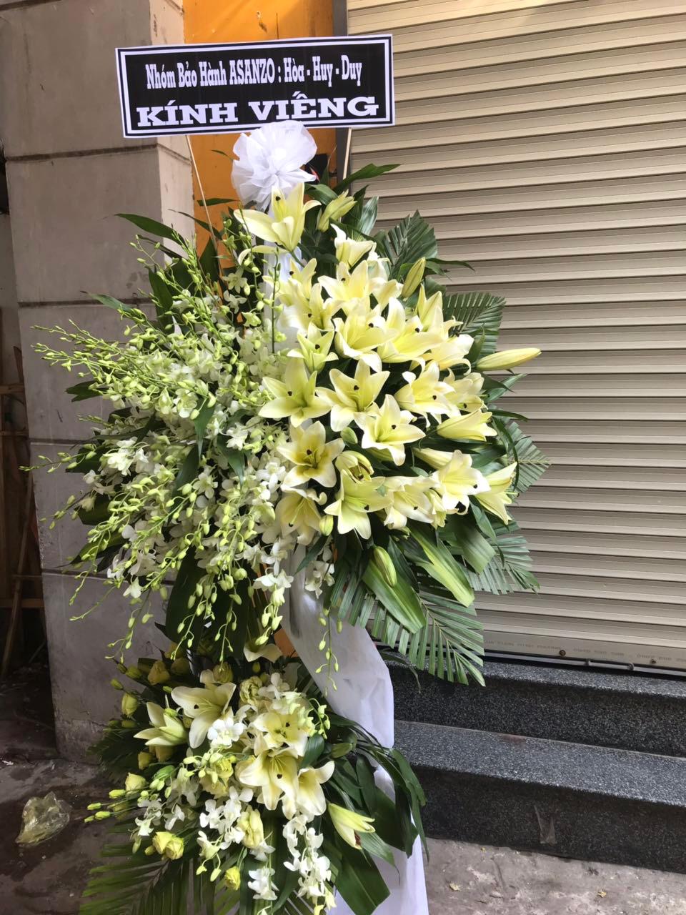 """Vòng hoa chia buồn """"Vĩnh Biệt"""""""