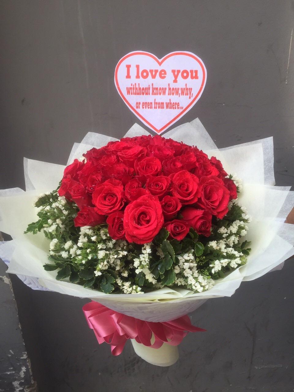 bó hoa tươi tình yêu vĩnh cửu dành cho các fan hâm mộ hoa hồng đỏ