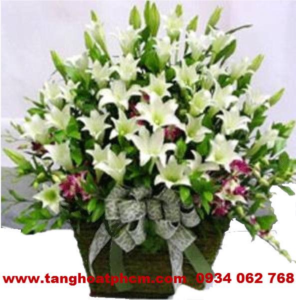 Giỏ hoa sinh nhật - Hoa Ly thơm nồng nàn