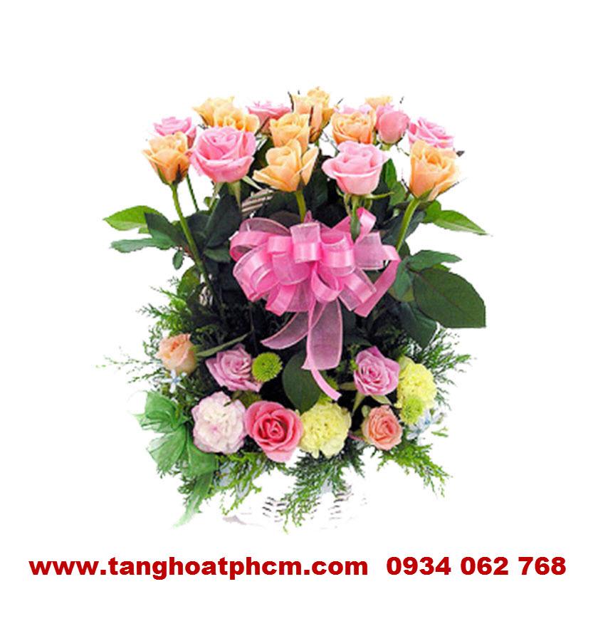 Hoa hồng sinh nhật nhiều màu sắc