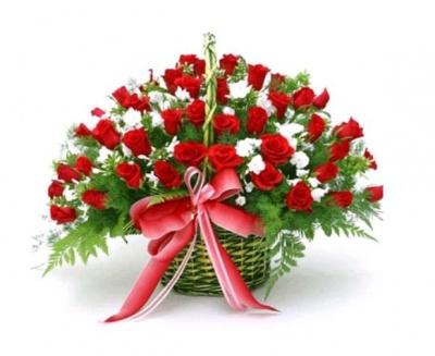 Hoasinh nhật- Giỏ hoa hồng