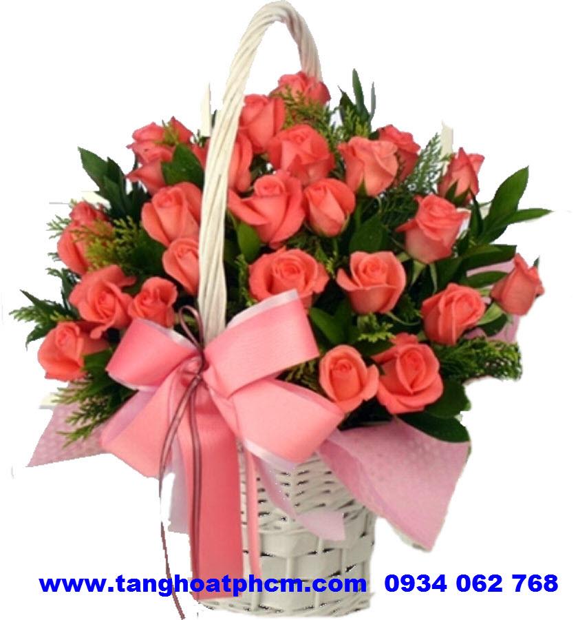 Tặng hoa sinh nhật Hồng cam