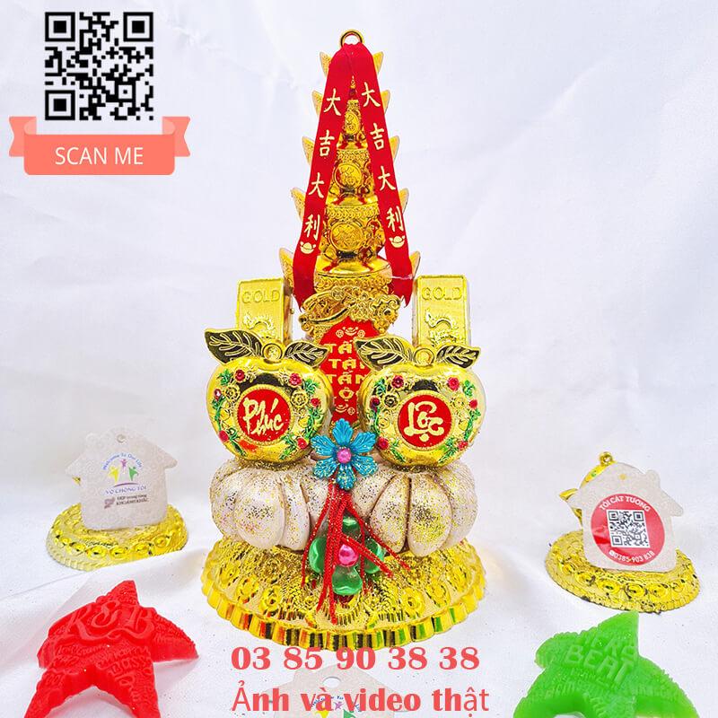 Đĩa tỏi thần tài tháp vàng phúc lộc chuẩn phong thủy