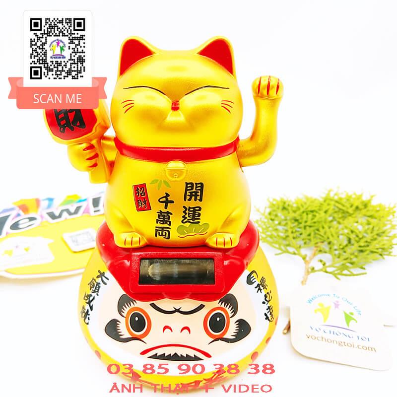 Mèo Thần Tài Búp Bê Nhật Bản Năng Lượng Mặt Trời ĐỘC LẠ