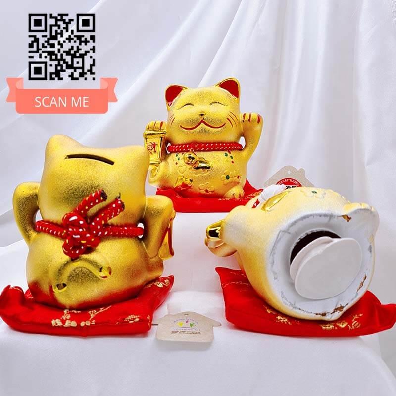 Mèo Thần Tài MANEKI NEKO ống heo ĐẸP SANH CHẢNH