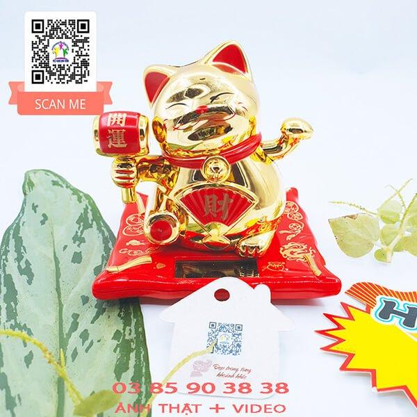 Mèo Thần Tài Nhật Bản Năng Lượng Mặt Trời