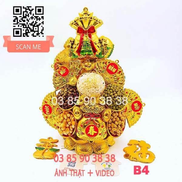 Tháp Tỏi Phong Thủy Thần Tài Túi Vàng