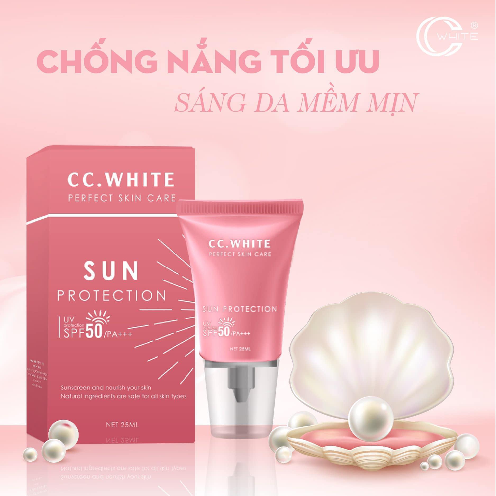 KEM CHỐNG NẮNG NGỌC TRAI CC WHITE - SUN PROTECTION