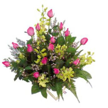 Arrangement of Cut Flowers in pinks Cambodia