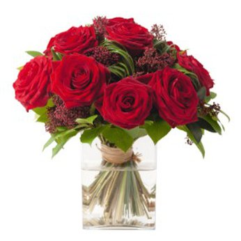 Bouquet of Roses Red Velvet without vase Russia