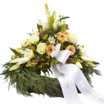 Decorative wreath with ribbon Denmark