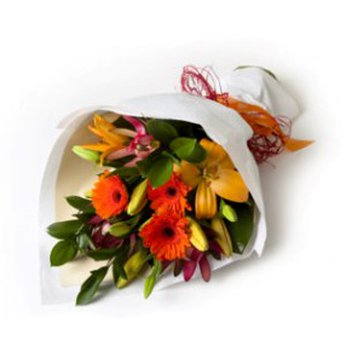 Hand Tied Mixed Bouquet New Zealand