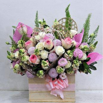 Hộp Hoa Dễ Thương
