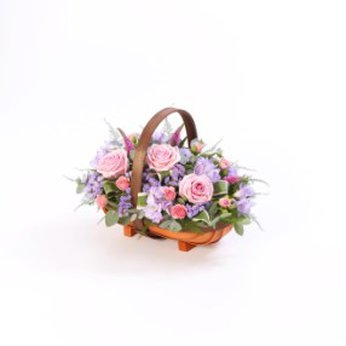 Mixed Basket Pink and Lilac  United Kingdom