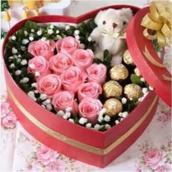 Pink Rose Heart China
