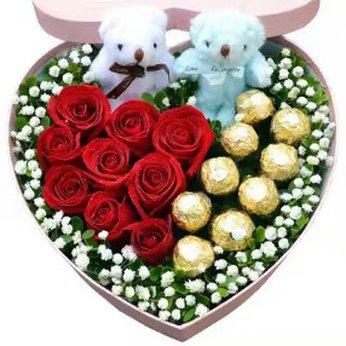 Rose Heart and Chocolates China