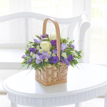 Scented White and Lilac Basket  United Kingdom